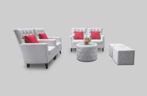 Aristocrat Armchair Aristocrat Coffee Table and Roma Button Pouffe Setup March2019 300x197 - Aristocrat Armchair