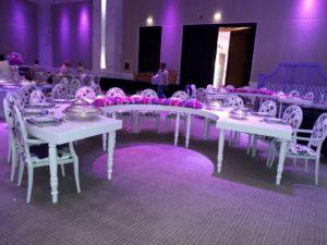 Avalon C Table 4 1 300x225 - Avalon Quarter Moon White Dining Table