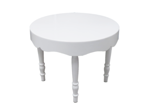 Avalon Curved Round white dining table 1 300x228 - Avalon Chic Round White Dining Table