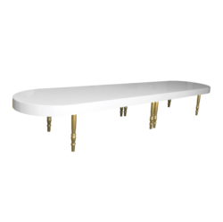 Avalon Oval Gold Dining Table