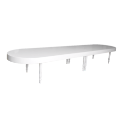 oval dining table, gala dinner furniture