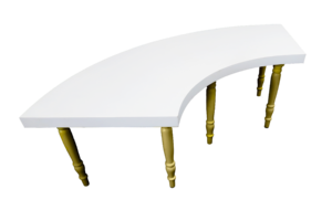 Avalon Quarter Moon Gold Dining Table 3 1 300x200 - Avalon Quarter Moon Gold Dining Table