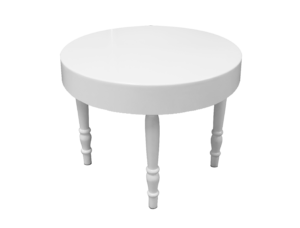 Avalon round white dining table 1 1 300x228 - Avalon Round White Dining Table