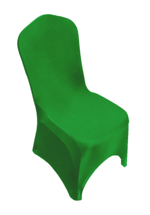 Areeka Event Rentals - Stewart Banquet Chair with Green Stretch Cover