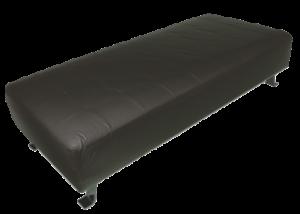 Black Ottoman, black daybed