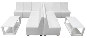 Chameleon Crevasse Sofa Set Sample Set Up, lounge seating