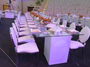 Chrome Dior Dining Chair with Le Minou Regal Dining Table 2 1 300x225 - Le Minou Regal Glass Dining Table