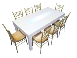 Clement Dining Table with Champagne Chiavari Chairs 1 300x225 - Clement Dining Table