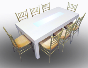 Clement Dining Table with Champagne Chiavari Chairs 1 300x233 - Champagne Chiavari Chair