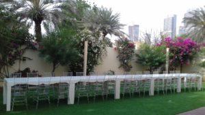 Clementine Table with Acrylic Chiavari Garden Set Up 1 1 300x169 - Clear Acrylic Chiavari Chair