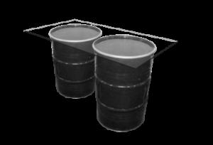 Collins Vertex Glass Cocktail Table - Black