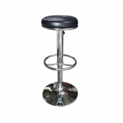 black leather bar stool, black stool, rent black stool