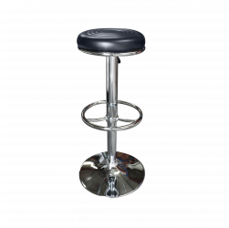 black leather bar stool, black stool, high seating, stool, leather stool