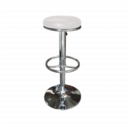 white leather bar stool, bar stool