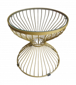 Gold Wire Coffee table, gold coffee table. round coffee table. round metal coffee table