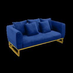 2-seater velvet sofa, blue sofa, velvet sofa