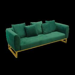 Eleganza Velvet 3 Seater Sofa Green