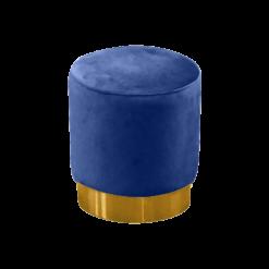 blue velvet pouffe, round pouffe