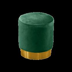 green velvet pouffe, green velvet ottoman