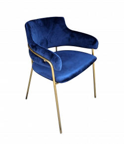 Eleganza Velvet Chair Blue e1572528888382 1 - Eleganza Velvet Chair - Blue