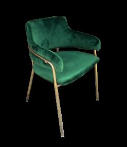 green velvet chair, dining chair
