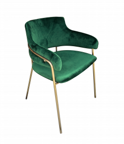 Eleganza Velvet Chair Green e1572528780402 1 - Eleganza Velvet Chair - Green
