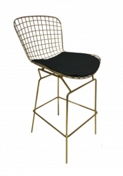 Gold High Chair, gold stool, gold bar stool, bar stool