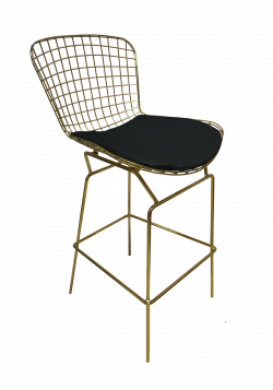 Fiora High Chair Black 1 e1574229187354 1 - Fiora Gold Bar Chair