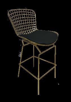 Fiora High Chair Black 1 e1574229187354 1 - Fiora Gold Bar Chair