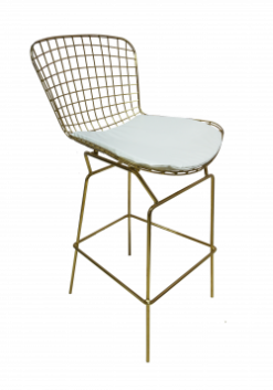 gold bar stool, gold stool, gold high chair, gold stool