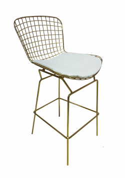 Fiora High Chair White 1 e1574229257613 1 - Fiora Gold Bar Chair