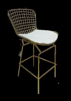 Fiora High Chair White 1 e1574229257613 1 - Fiora Gold Bar Chair
