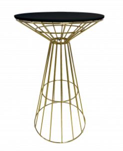 gold cocktail table, gold high table