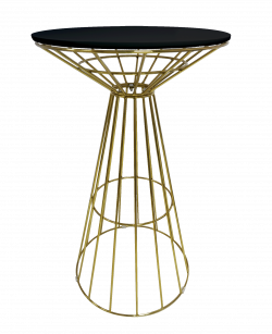 Gold Cocktail Table, wireworx cocktail table