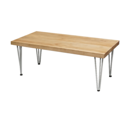 hairpin rustic coffee table, wooden coffee table