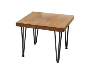 hairpin side table, rustic side table