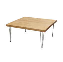 wooden lounge table, hairpin table, rustic coffee table