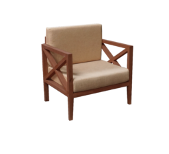 1-Seater wooden armchair, rustic armchair