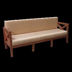 3-Seater Wooden Sofa, outdoor sofa