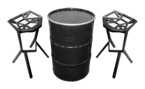 IMG 0711 copy 1 300x185 - Collins Drum Cocktail Table - Black