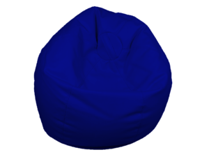 bean bag blue, bean bag