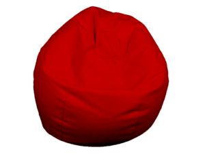 bean bag red, low seating