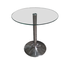 glass cafe table, round cafe table