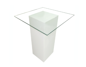 Le Minou Glass Cocktail Table 1 1 300x233 - Le Minou Square Glass High Table