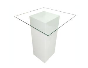 Le Minou Glass Cocktail Table 1 300x233 - Le Minou Square Glass High Table
