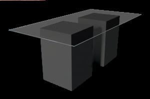 black dining table, black table