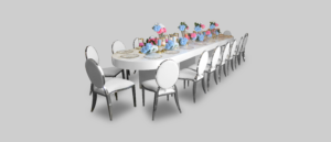 Areeka Event Rentals - Le Minou Oval Dining Table