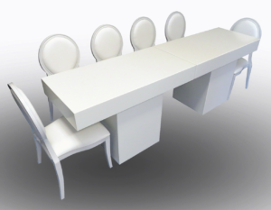 Le Minou Rectangular Dining Table with Louis Dining Chairs 1 300x233 - Le Minou Rectangular Dining Table