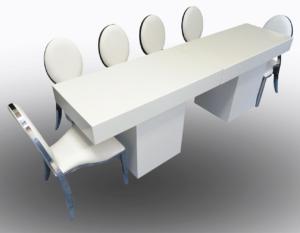 Le Minou Rectangular Dining Tables with Chrome Dior Chairs 1 300x233 - Le Minou Rectangular Dining Table