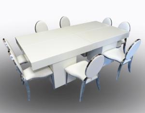 Le Minou Rectangular Dining Tables with Chrome Dior Chairs 2 1 300x233 - Le Minou Rectangular Dining Table